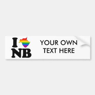 I LOVE GAY NEW BRUNSWICK -.png Bumper Sticker