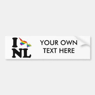 I LOVE GAY NEWFOUNDLAND -.png Bumper Stickers