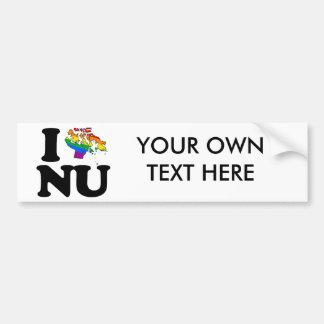 I LOVE GAY NUNAVUT -.png Car Bumper Sticker