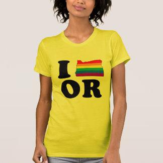 I LOVE GAY OREGON T-SHIRTS