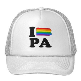 I LOVE GAY PENNSYLVANIA TRUCKER HAT