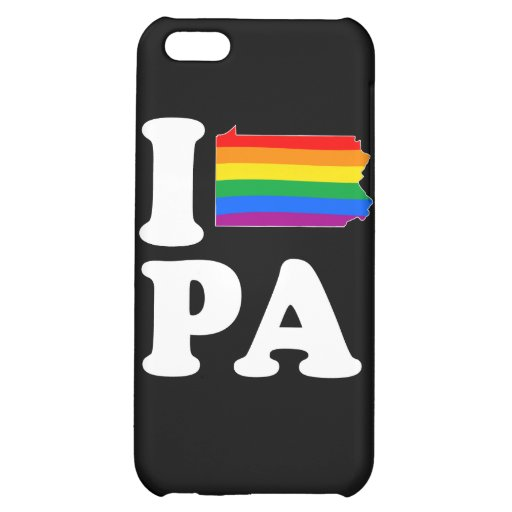 I LOVE GAY PENNSYLVANIA -- WHITE -.png Cover For iPhone 5C