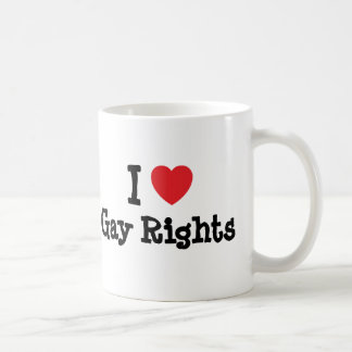 I love Gay Rights heart custom personalized Classic White Coffee Mug
