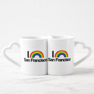 I LOVE GAY SAN FRANCISCO -.png Couples' Coffee Mug Set