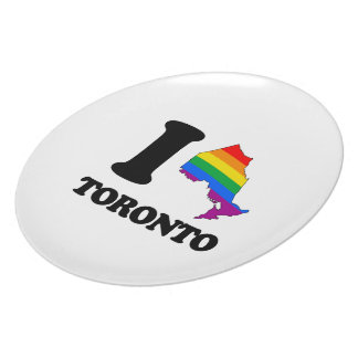 I LOVE GAY TORONTO - png Dinner Plate