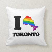 I LOVE GAY TORONTO -.png Throw Pillow