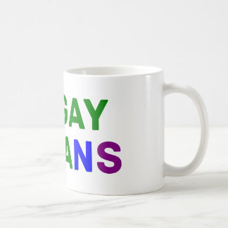 I love gay vegans coffee mug