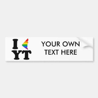 I LOVE GAY YUKON -.png Bumper Stickers