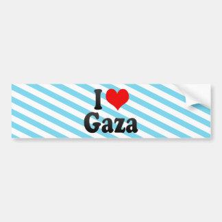 I Love Gaza, Palestinian Territory Car Bumper Sticker