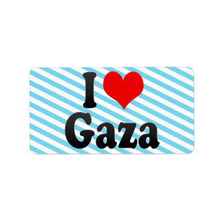 I Love Gaza, Palestinian Territory Address Label
