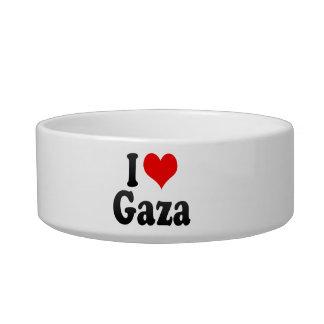 I Love Gaza, Palestinian Territory Cat Food Bowl
