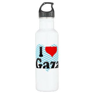I Love Gaza, Palestinian Territory 24oz Water Bottle