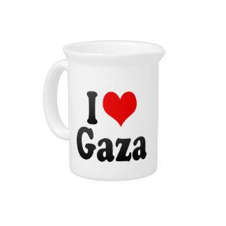 I Love Gaza, Palestinian Territory Beverage Pitcher