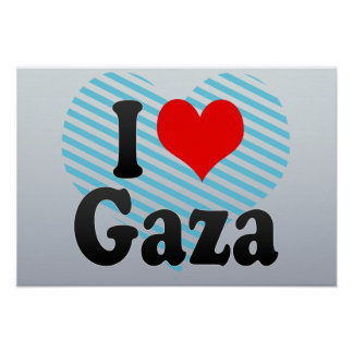 I Love Gaza, Palestinian Territory Print