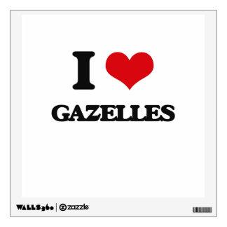 I love Gazelles Room Decals