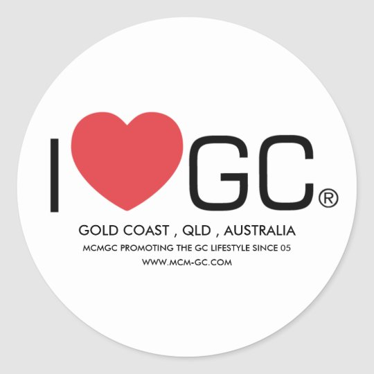I love GC Classic Round Sticker