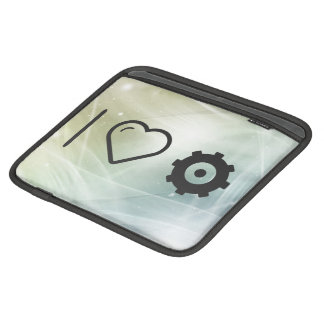 I Love Gear Patterns Sleeve For iPads