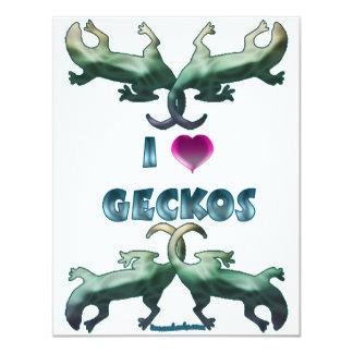 I Love Geckos Card