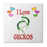 I Love Geckos Ceramic Tiles