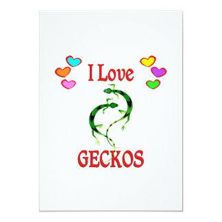 I Love Geckos Cards