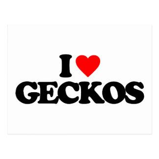 I LOVE GECKOS POSTCARD