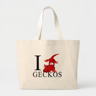 I Love Geckos Tote Bags