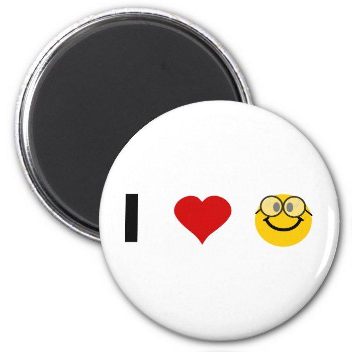 I love Geeks 2 Inch Round Magnet