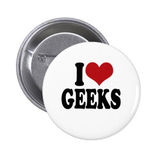 I Love geeks Buttons