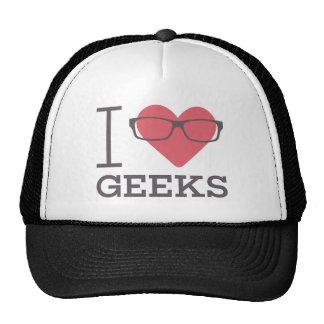 I Love Geeks (Glasses Design) Trucker Hats