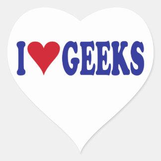 I Love Geeks Heart Sticker