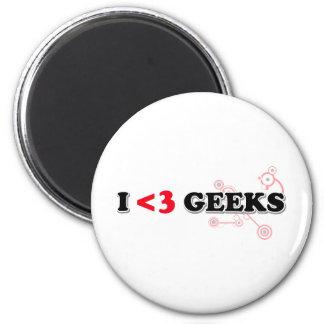 I Love Geeks Refrigerator Magnets