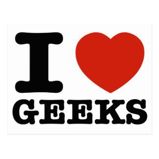 I love Geeks Postcard