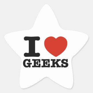 I love Geeks Star Sticker
