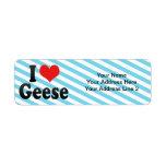 I Love Geese Custom Return Address Label
