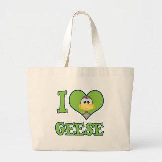 I Love geese Jumbo Tote Bag