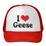 I Love Geese Mesh Hat