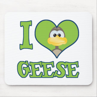 I Love geese Mouse Pad