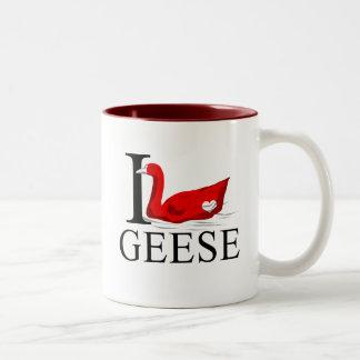 I Love Geese Mugs