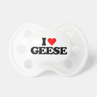 I LOVE GEESE PACIFIER