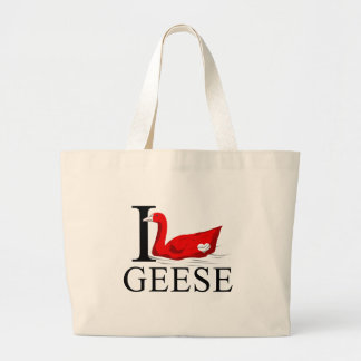 I Love Geese Tote Bags