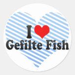 I Love Gefilte Fish Round Sticker