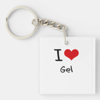 I Love Gel Single-Sided Square Acrylic Keychain