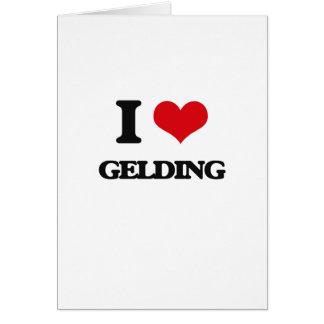 I love Gelding Greeting Card