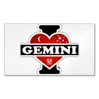 I Love Gemini Business Card Magnet