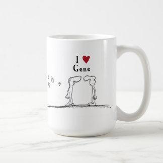 """""""I love Gene"""" """"I heart Gene"""" Coffee Mug"""