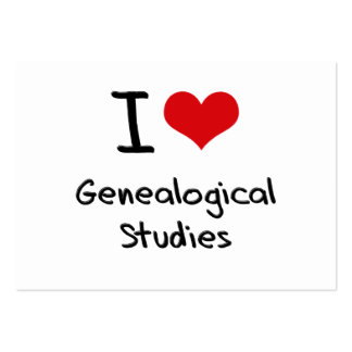 I Love Genealogical Studies Large Business Cards (Pack Of 100)