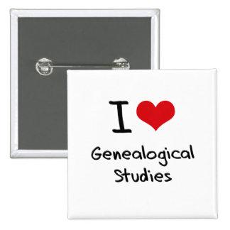 I Love Genealogical Studies Button