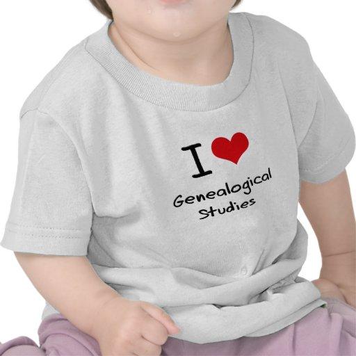 I Love Genealogical Studies Shirt