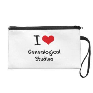 I Love Genealogical Studies Wristlet Purse