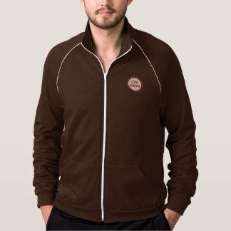 I Love Genealogy American Apparel Fleece Track Jacket